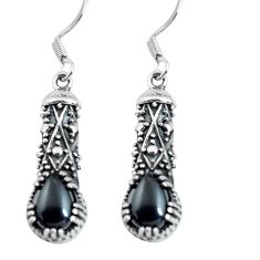 4.52cts natural black onyx 925 sterling silver dangle earrings jewelry p63903