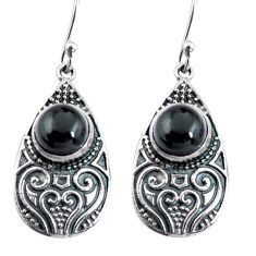 4.82cts natural black onyx 925 sterling silver dangle earrings jewelry p63956