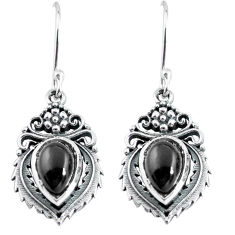 4.93cts natural black onyx 925 sterling silver dangle earrings jewelry p63974