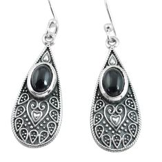 3.52cts natural black onyx 925 sterling silver dangle earrings jewelry p64002