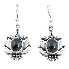 4.19cts natural black onyx 925 sterling silver dangle earrings jewelry p64006