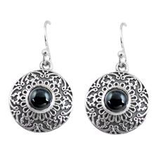 2.44cts natural black onyx 925 sterling silver dangle earrings jewelry p64020