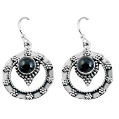 2.34cts natural black onyx 925 sterling silver dangle earrings jewelry p64038