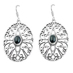2.99cts natural black onyx 925 sterling silver dangle earrings jewelry p64890