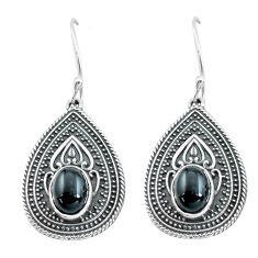 4.35cts natural black onyx 925 sterling silver dangle earrings jewelry p64934