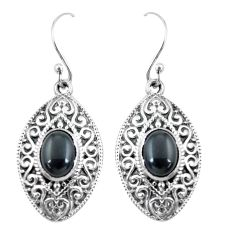 5.01cts natural black onyx 925 sterling silver dangle earrings jewelry p64968