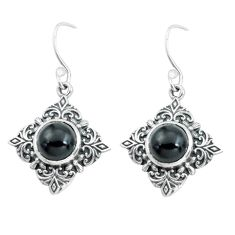 7.36cts natural black onyx 925 sterling silver dangle earrings jewelry p65005