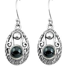 5.32cts natural black onyx 925 sterling silver dangle earrings jewelry p65026