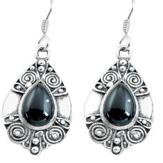 5.43cts natural black onyx 925 sterling silver dangle earrings jewelry p65043