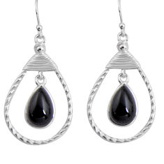 9.86cts natural black onyx 925 sterling silver dangle earrings jewelry p89964