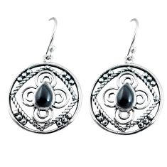 3.62cts natural black onyx 925 sterling silver dangle earrings jewelry p91461