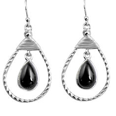 9.50cts natural black onyx 925 sterling silver earrings jewelry p92767