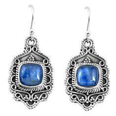 6.89cts natural blue kyanite 925 sterling silver dangle earrings jewelry p52741