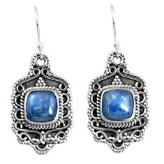 6.89cts natural blue kyanite 925 sterling silver dangle earrings jewelry p52742