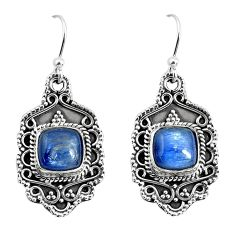 7.13cts natural blue kyanite 925 sterling silver dangle earrings jewelry p52743