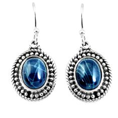 8.42cts natural blue kyanite 925 sterling silver dangle earrings jewelry p52823