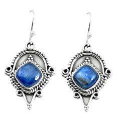 7.40cts natural blue kyanite 925 sterling silver dangle earrings jewelry p52842