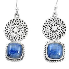 8.22cts natural blue kyanite 925 sterling silver dangle earrings jewelry p55448