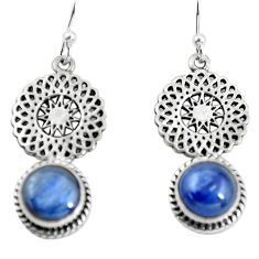 6.84cts natural blue kyanite 925 sterling silver dangle earrings jewelry p55453