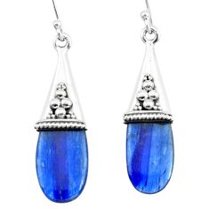 12.53cts natural blue kyanite 925 sterling silver dangle earrings jewelry p66472