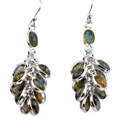 23.13cts natural blue labradorite 925 sterling silver chandelier earrings p88488