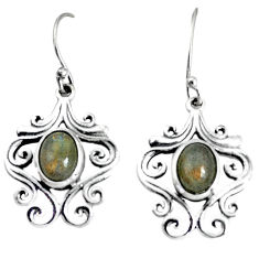 4.38cts natural blue labradorite 925 sterling silver dangle earrings p34441
