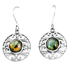 5.30cts natural blue labradorite 925 sterling silver dangle earrings p34485