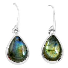 12.52cts natural blue labradorite 925 sterling silver dangle earrings p50934
