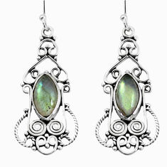 9.04cts natural blue labradorite 925 sterling silver dangle earrings p58379