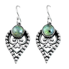 2.81cts natural blue labradorite 925 sterling silver dangle earrings p63951