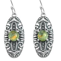 2.50cts natural blue labradorite 925 sterling silver dangle earrings p64956