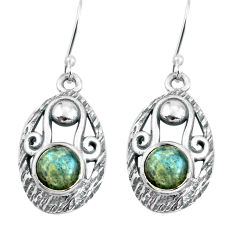 4.84cts natural blue labradorite 925 sterling silver dangle earrings p65039