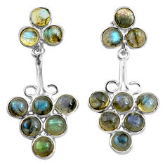 14.68cts natural blue labradorite 925 sterling silver dangle earrings p77476