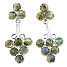 14.72cts natural blue labradorite 925 sterling silver dangle earrings p77477