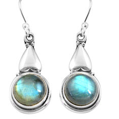 11.23cts natural blue labradorite 925 sterling silver dangle earrings p85634
