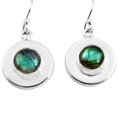 6.72cts natural blue labradorite 925 sterling silver dangle earrings p85677