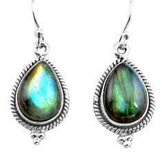 10.29cts natural blue labradorite 925 sterling silver dangle earrings p86948