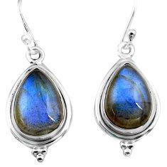 10.33cts natural blue labradorite 925 sterling silver dangle earrings p86951