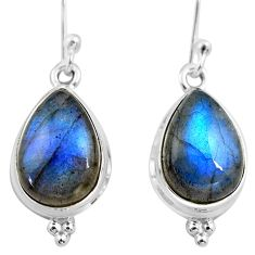 8.32cts natural blue labradorite 925 sterling silver dangle earrings p86978