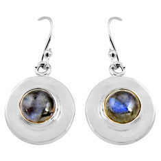 5.54cts natural blue labradorite 925 sterling silver dangle earrings p91474