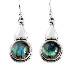 9.54cts natural blue labradorite 925 sterling silver dangle earrings p91516