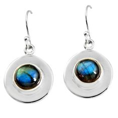 7.15cts natural blue labradorite 925 sterling silver dangle earrings p91517