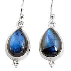 10.82cts natural blue labradorite 925 sterling silver dangle earrings p91605