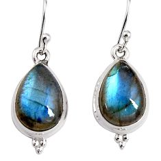 10.80cts natural blue labradorite 925 sterling silver dangle earrings p91609
