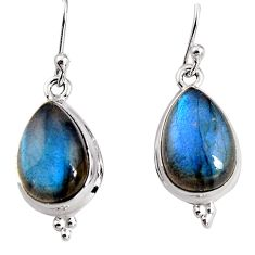 10.78cts natural blue labradorite 925 sterling silver dangle earrings p91639