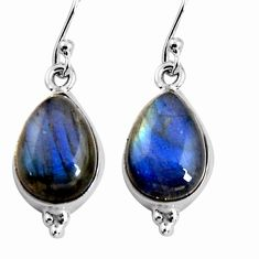 8.87cts natural blue labradorite 925 sterling silver dangle earrings p92782