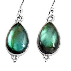 9.37cts natural blue labradorite 925 sterling silver dangle earrings p92785