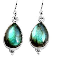 8.82cts natural blue labradorite 925 sterling silver dangle earrings p92789
