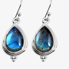 11.57cts natural blue labradorite 925 sterling silver dangle earrings p92793