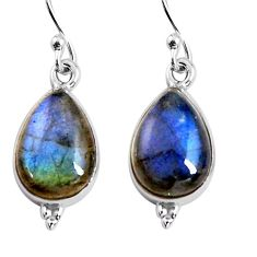 8.87cts natural blue labradorite 925 sterling silver dangle earrings p92795